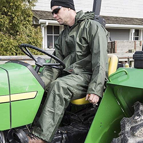V3040440-3XL Green 3XL Pioneer Heavy-Duty Waterproof Tree Planter Overall Bib Work Pants Adjustable