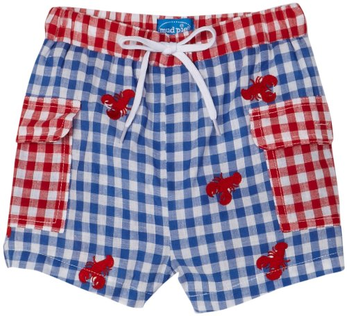 Mud Pie Boathouse Baby Lobster Swim Trunks