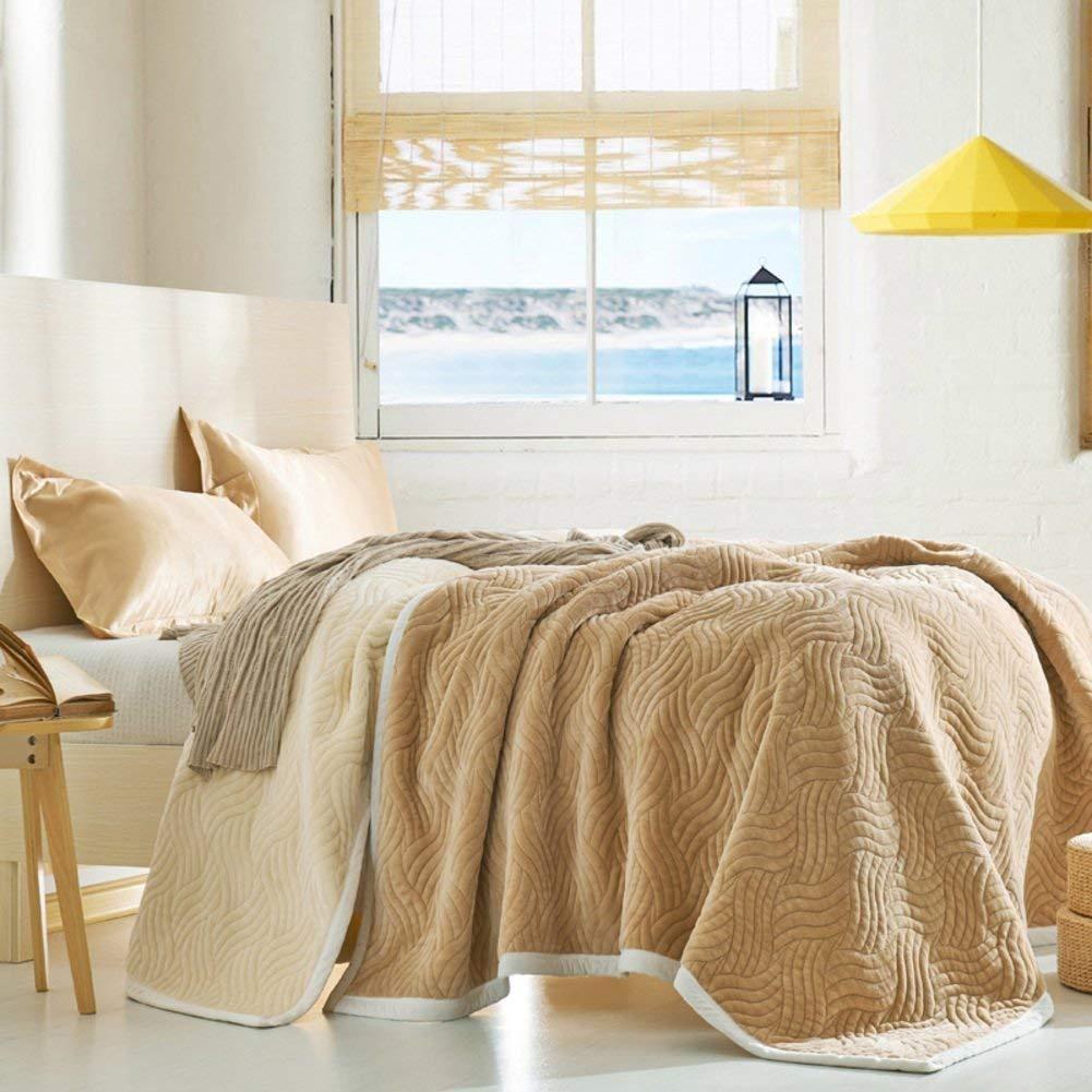 Yunyilian ベッドシートの冬の厚い固体綿毛布、暖かい単一の二重タオルのキルト毛布 (Color : 230x200cm(91x79inch), サイズ : E) B07R2NKZ6D 230x200cm(91x79inch) E
