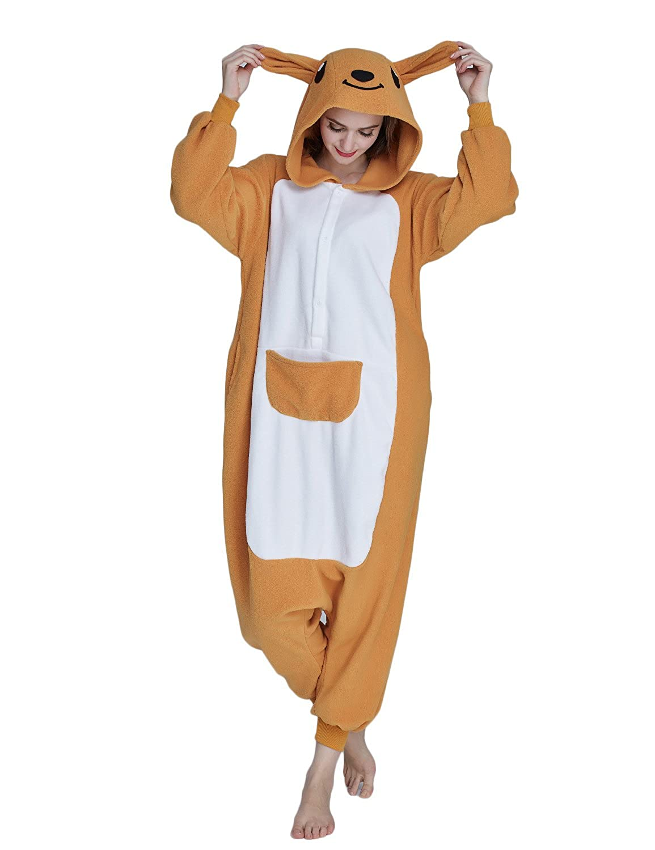 KING Fun Unisex Adult Pajamas Kangaroo Onesie Animal Cosplay Homewear Costume A5 Kangaroo-AC005