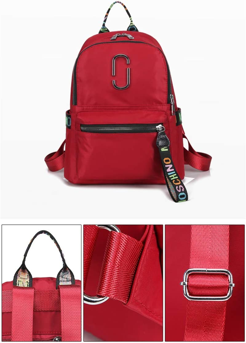 Work School Outdoor Black//Red//Blue//Purple. Haoyushangmao The Girls Versatile Backpack is Perfect for Everyday Travel Travel Fashion and Leisure Color : Purple, Size : 23cm32cm13cm