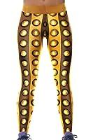 Fashion Womens Stretch Sports Yoga Pants Legging Gold