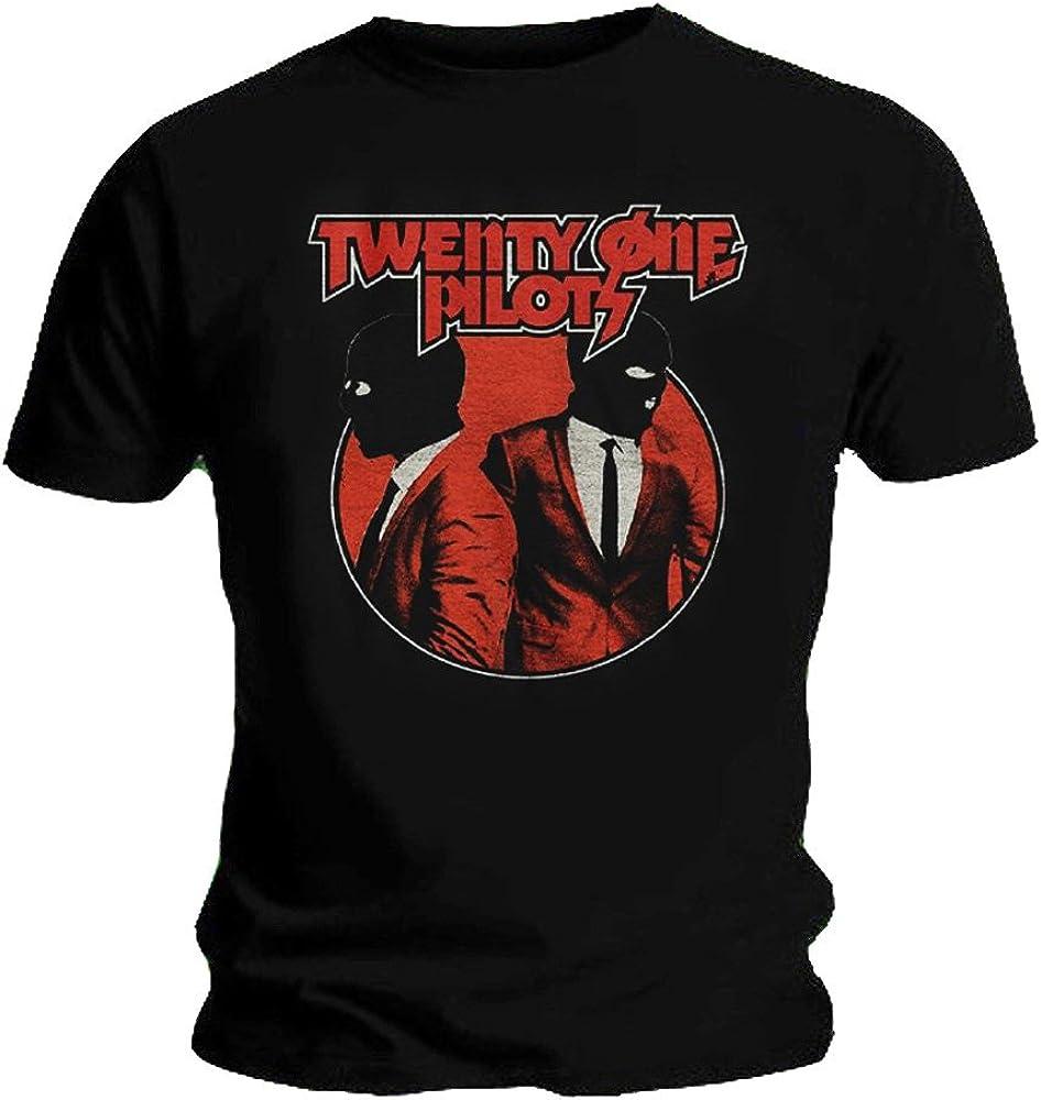 Twenty One Pilots Oficial Camiseta 21 Clique Incógnito Negro Máscaras: Amazon.es: Ropa y accesorios