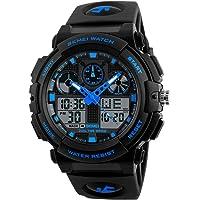 KKmoon SKMEI 1270 Quartz Digital Electronic Men Watch Casual Outdoor Sports Male Wristwatch Dual Time Date Week…