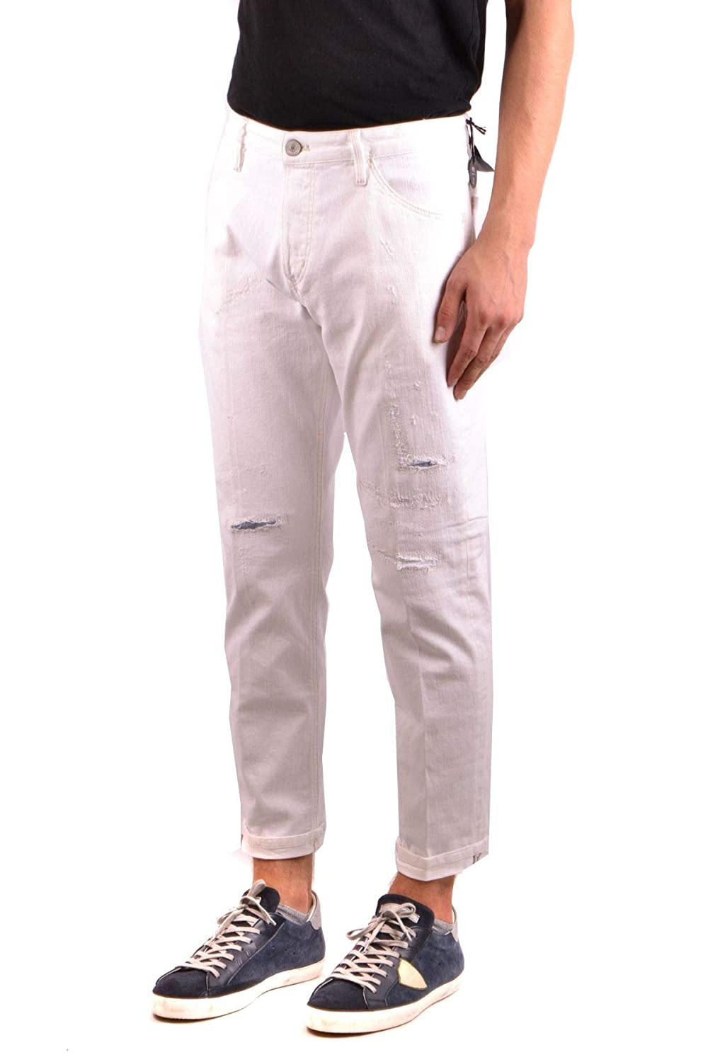 PT05 Mens MCBI35627 White Cotton Jeans