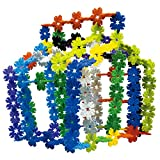Qualors Leaf Snowflakes 250 Pieces Building Set with Idea Sheet (30+ Creations) | Interlocking Engineering Toys for Boys Girls to Promote Fine Motor Skills Development | Carefully Selected Material