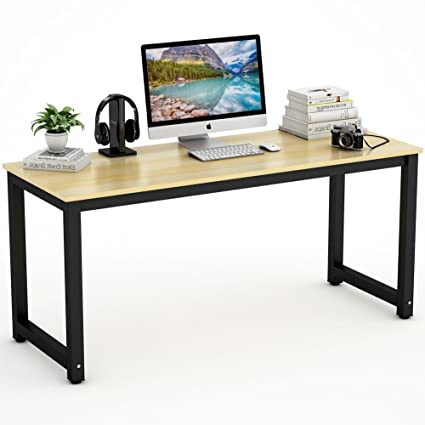 Tribesigns Computer Desk, 63u0026quot; Large Office Desk Computer Table Study  Writing Desk For Home