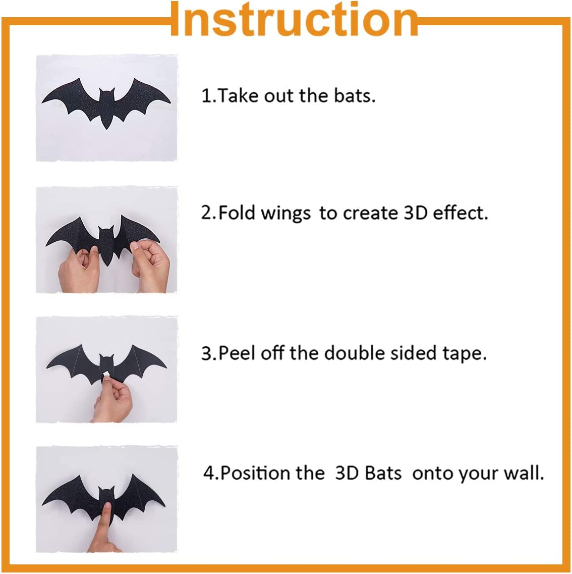 10 Pcs Hanging Bats and Wall Decals Window Stickers Bat Halloween Yard Decorations Outdoor Party Decor Pawliss Halloween Decorations