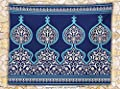 Moroccan Fleece Throw Blanket Decor Bohemian Style Old Middle Eastern Turkish Figures Mystical Ornamental Image Print Throw Royal Blue
