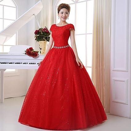 Vestido de novia Delgado de Hombro, Malla de Ajuste de Cinta de Brote Ailin Home