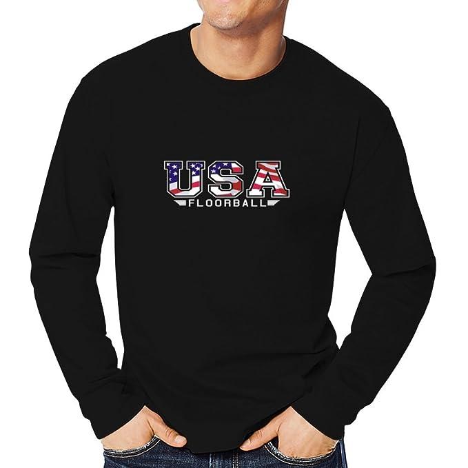 Teeburon USA Floorball FLAG CLIP ARMY Camiseta manga larga: Amazon.es: Ropa y accesorios