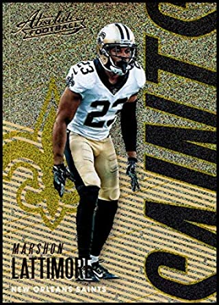 2018 Panini Absolute Spectrum Gold  70 Marshon Lattimore NM-MT New Orleans  Saints Official 013698c67