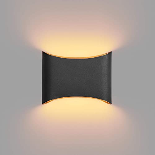 MOTINI Modern LED Wall Sconce Light Fixture Outdoor Indoor Exterior Flush Mount Up and Down 13W 3000K Warm Light Waterproof Wall Lamp