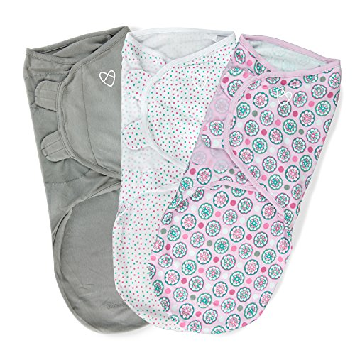 SwaddleMe Original Swaddle 3-PK, Floral Geo (LG) by Summer Infant