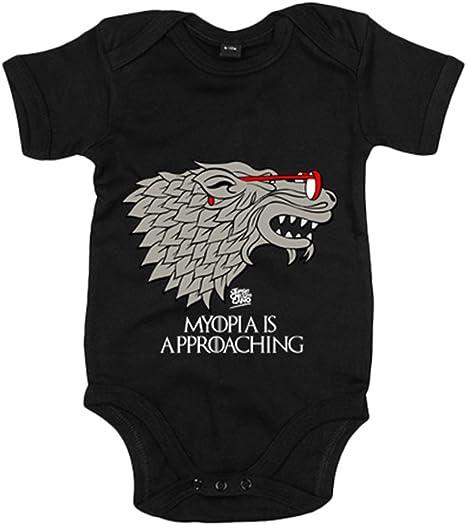 Body bebé parodia de Juego de Tronos la miopia se esta acercando blanco - Negro, 6-12 meses: Amazon.es: Bebé