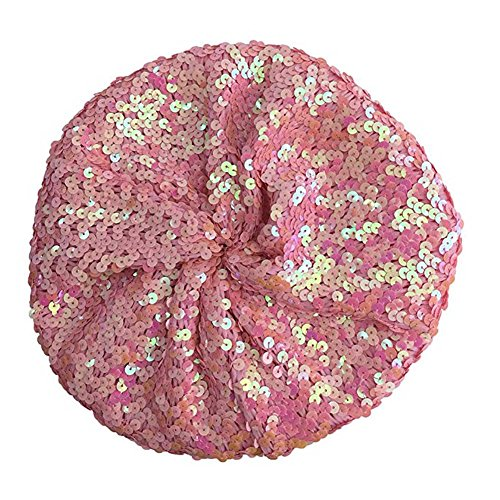 Chuangli Bling Sparkle Sequine Beret Hat Performance Shining Cap For Dancing Party (Sequin Beret)