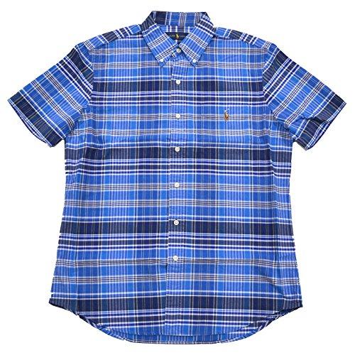 Polo Ralph Lauren Men's Plaid Oxford Shirt (Extra Large, Blue - Ralph Tartan Lauren