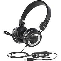 HED 539 Auriculares con Micrófono para PC, Auriculares Alámbricos con el USB / 3.5 mm Conector Compatibles, Micrófono…