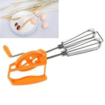 REFURBISHHOUSE Rotary Manual Hand Whisk Egg Beater Mixer Blender Stainless Steel Kitchen Tools