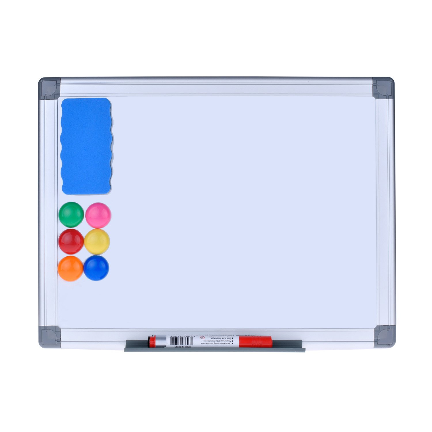 Magnetic Dry Erase Board - EFIRNITURE 12x15 inch Aluminum Frame Wall Mounted Whiteboard, 6 Magnets, 2 Marker Pens, 1 Eraser, and Removable Marker Tray Included