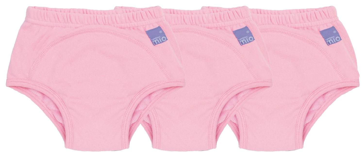 Bambino Mio Potty Training Pants, Pink Elephant, 2-3 Years, 3 Pack 3TP2-3 PE
