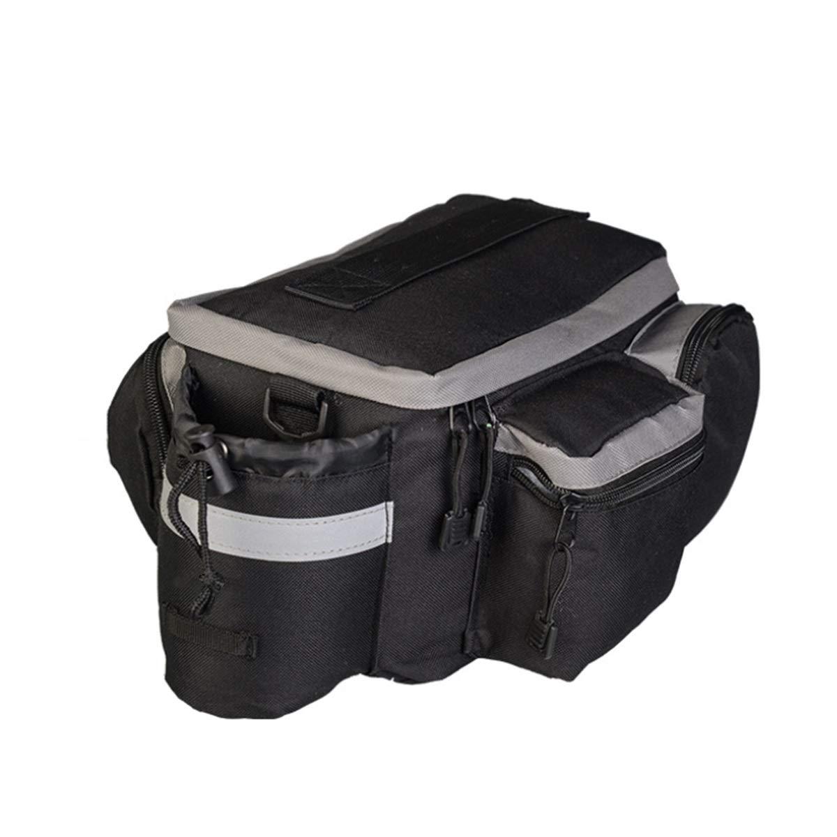 6L Bike MTB Trunk Bag with Reflective Strip Bicycle Trunk Rear Handbag Cycling Storage Rack Pack by Tianhaik