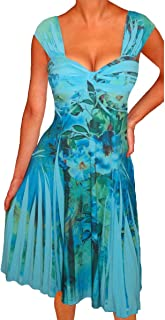 product image for Funfash Plus Size Women Empire Waist Blue Cocktail Cruise Dress Made in USA