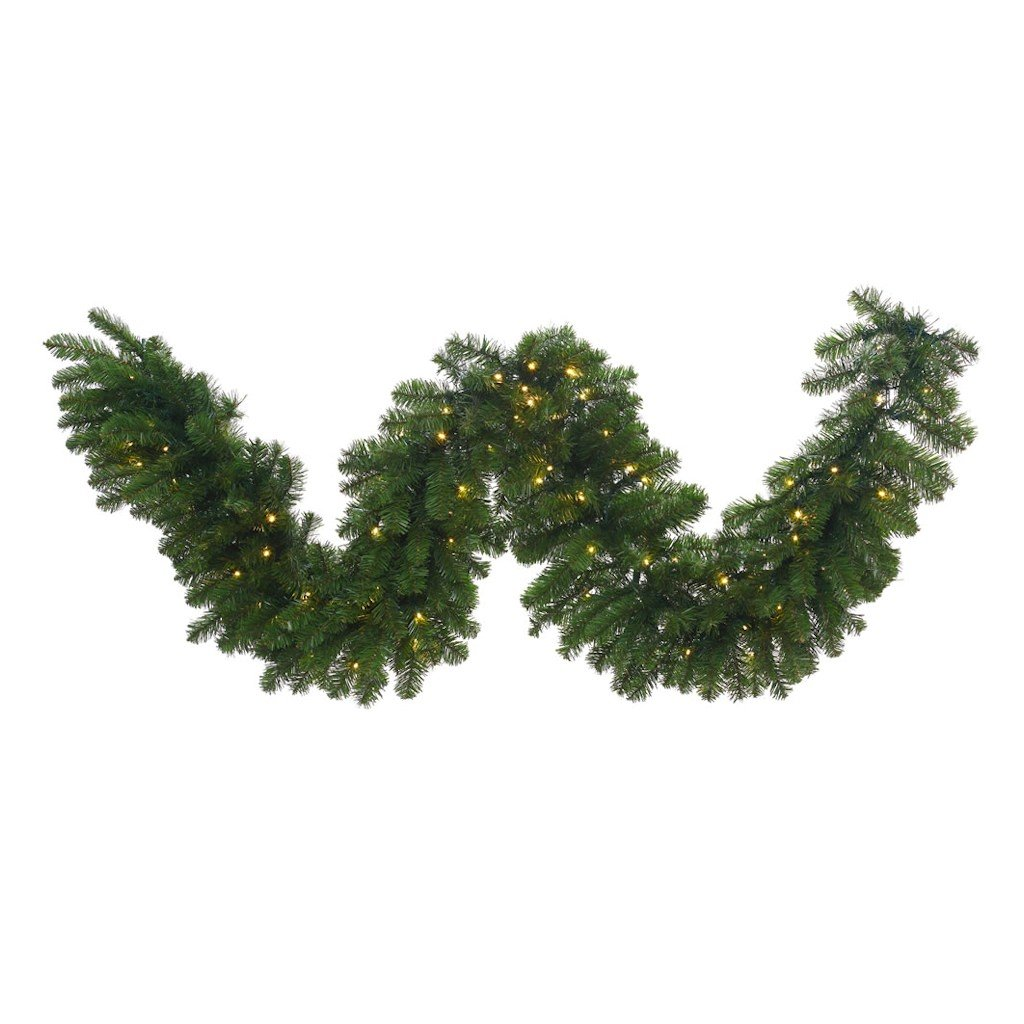 Vickerman Grand Teton Artificial Garland with 400 Warm White Lights, 25' x 24''