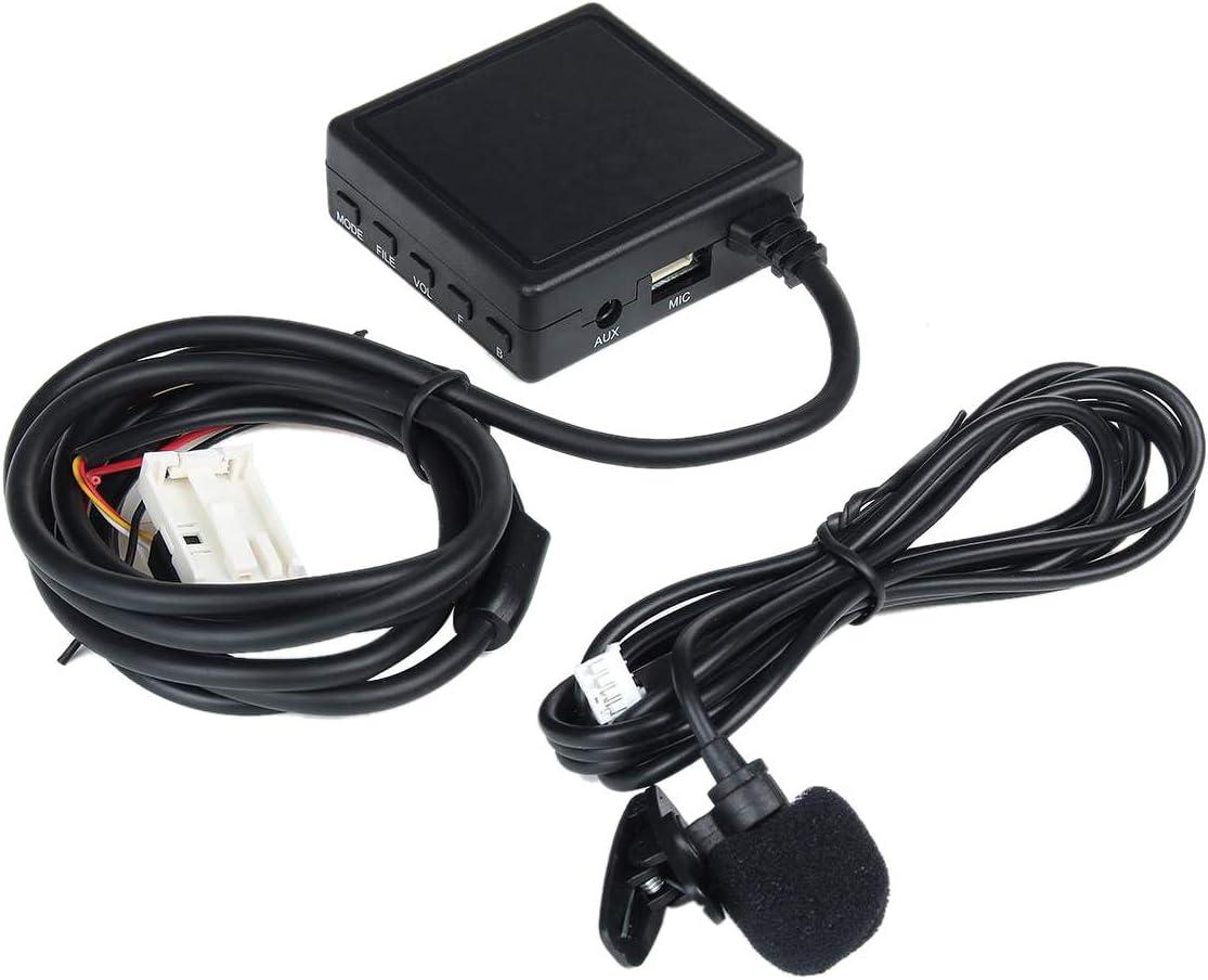 Tiamu Adaptador Auxiliar de TeléFono Manos Libres de MóDulo de Audio InaláMbrico para Adaptador de Cable de TeléFono Mercedes W203 W209 W211