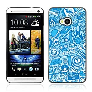 Designer Depo Hard Protection Case for HTC One M7 / Cool Vintage Badass Pattern