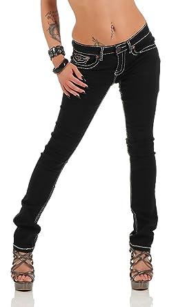 Damen Jeans Hose Gerades Bein Dicke Naht (539), Grösse 36 S, 007c94d05b