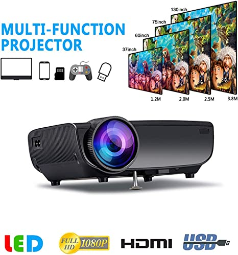 WiFi Proyector LED, USB Mini Proyector Aislamiento Ultra ...