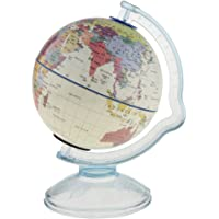 Blesiya Rotary Stand World Globe Money Coin Bank Kids Geography Learning Education Globe - White