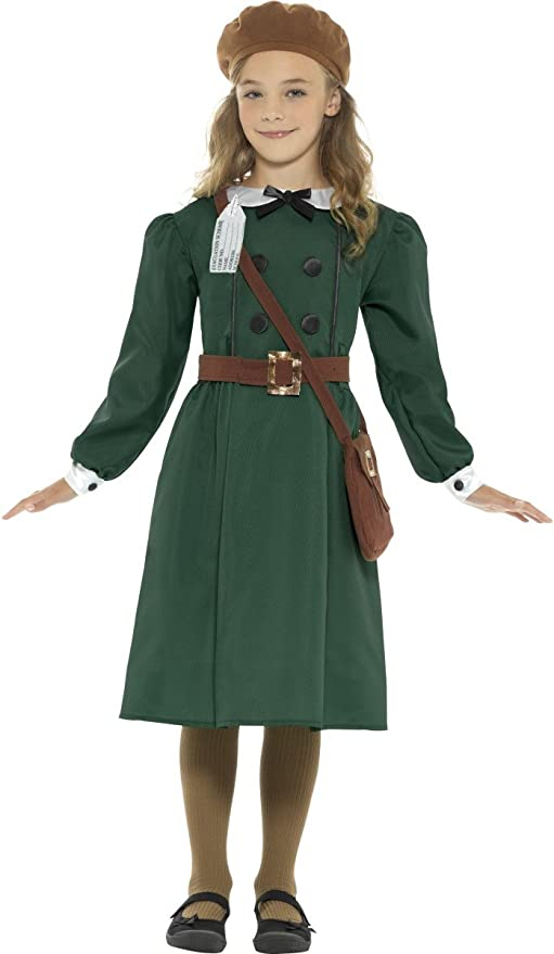 1940s Children's Clothing: Girls, Boys, Baby, Toddler Smiffys WW2 Evacuee Girl Costume $41.30 AT vintagedancer.com