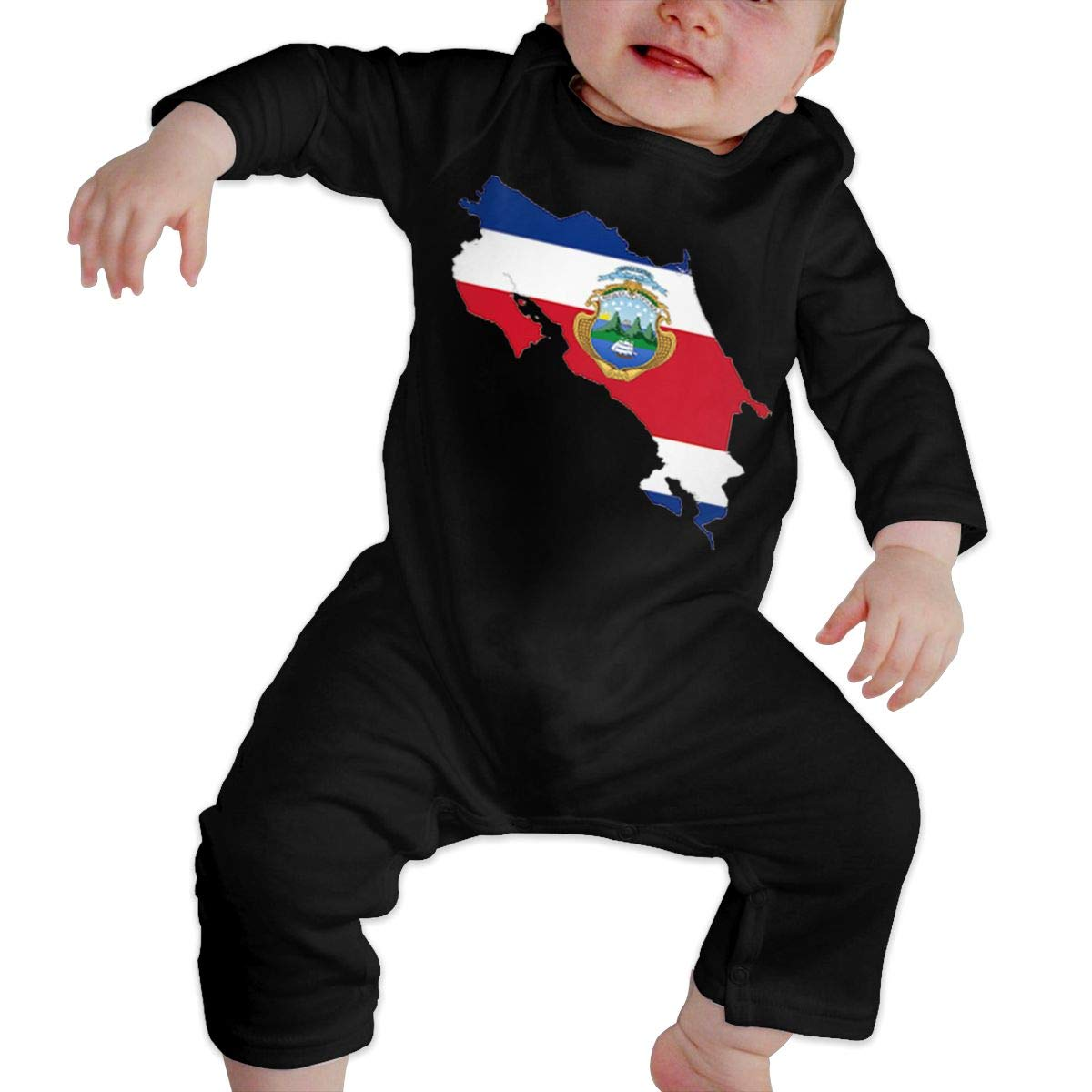 Fasenix Costa Rica Flag Newborn Baby Boy Girl Romper Jumpsuit Long Sleeve Bodysuit Overalls Outfits Clothes