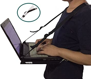 Thorium Para Caminar la Seguridad Ordenador Portátil Aprovechar Ajustable Escritorio Estar con Cepillo de Limpieza