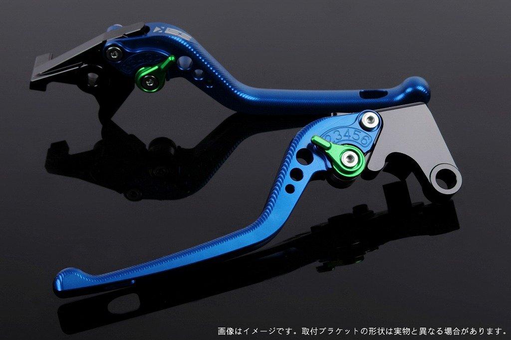 SSK アジャストレバー 3Dロング レバー本体カラー:ブルー アジャスターカラー:グリーン VFR1200F  HO0406216-GN B01N6SNW1P アジャスター:グリーン 3Dロング