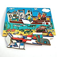 Inlay Lobster Fishing Boat Puzzle