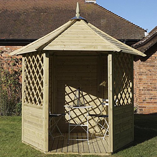 Waltons 7 ft x 6 ft Durham de madera tratada a presión jardín ...