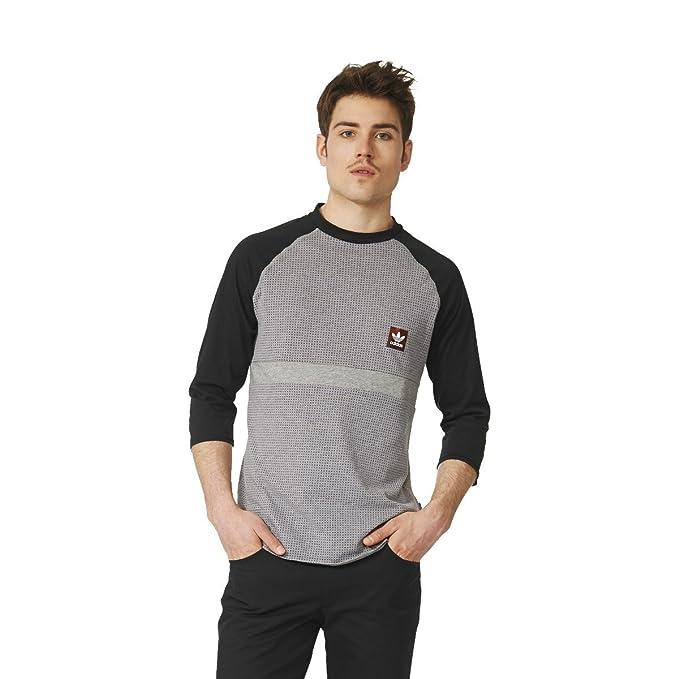 e09cfdedcea Camiseta manga larga adidas – Aeroknit Raglan gris negro talla  L (Large)
