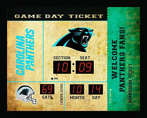 (Team Sports America Carolina Panthers Bluetooth Scoreboard Wall Clock)