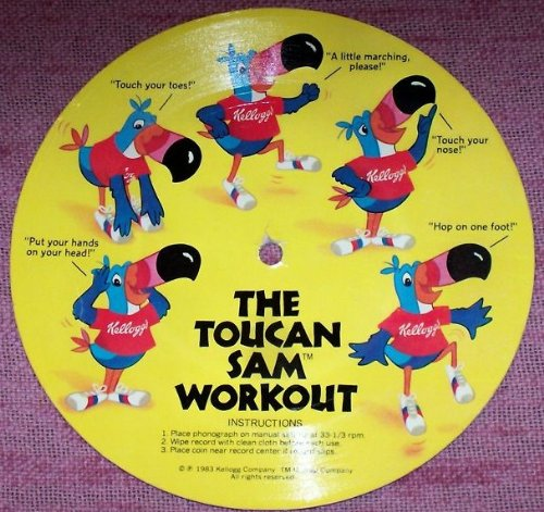 THE Toucan SAM Workout Kellogg Cardboard Record (1983) -