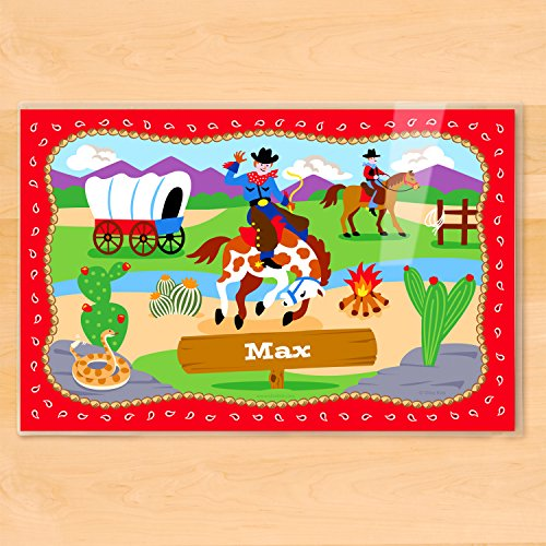 Olive Kids Cowboy Personalized (Olive Kids Personalized Placemat)