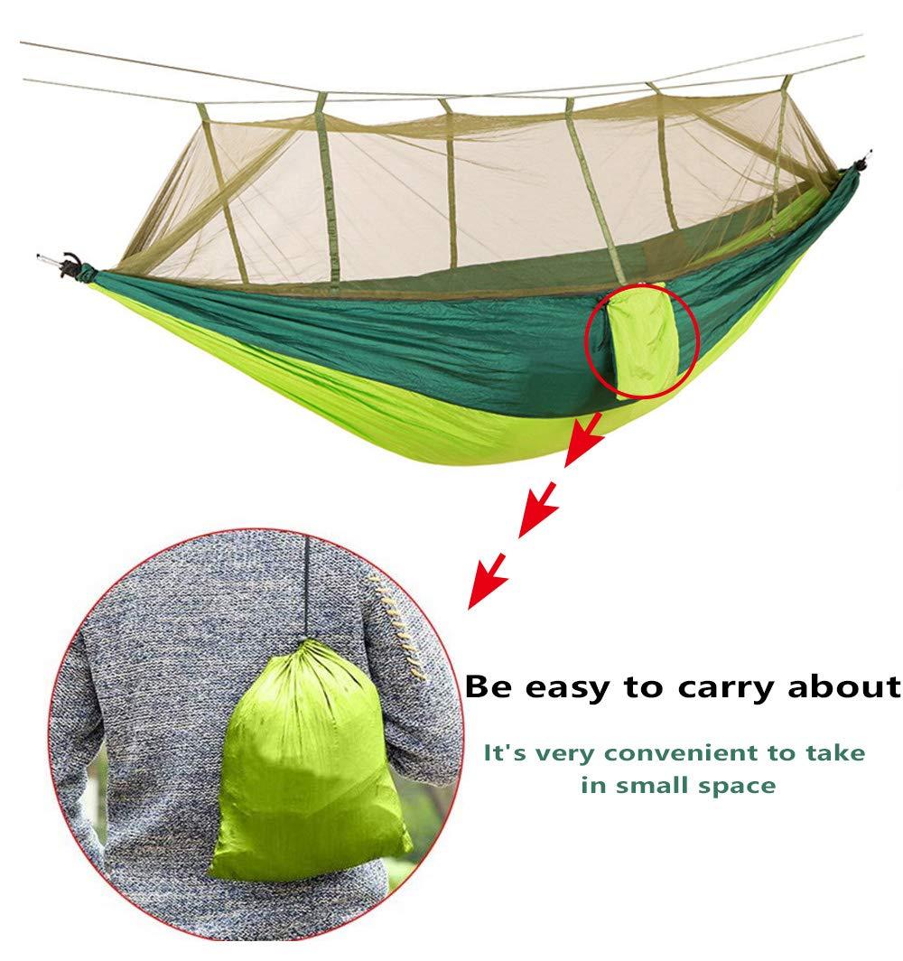 oleein Hamaca para Acampar con mosquitera de Viaje al Aire Libre Hamaca para Acampar Excursionismo Mochilero Picnic