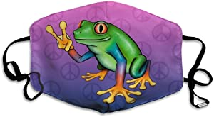 Garde Art Studio Peace Frog Peace Symbol Sign Printed Facial Decorations for Women and Men