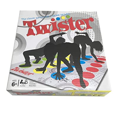 Classic Floor Games Board Games Team Twister Game for Family Party Large Version: Toys & Games