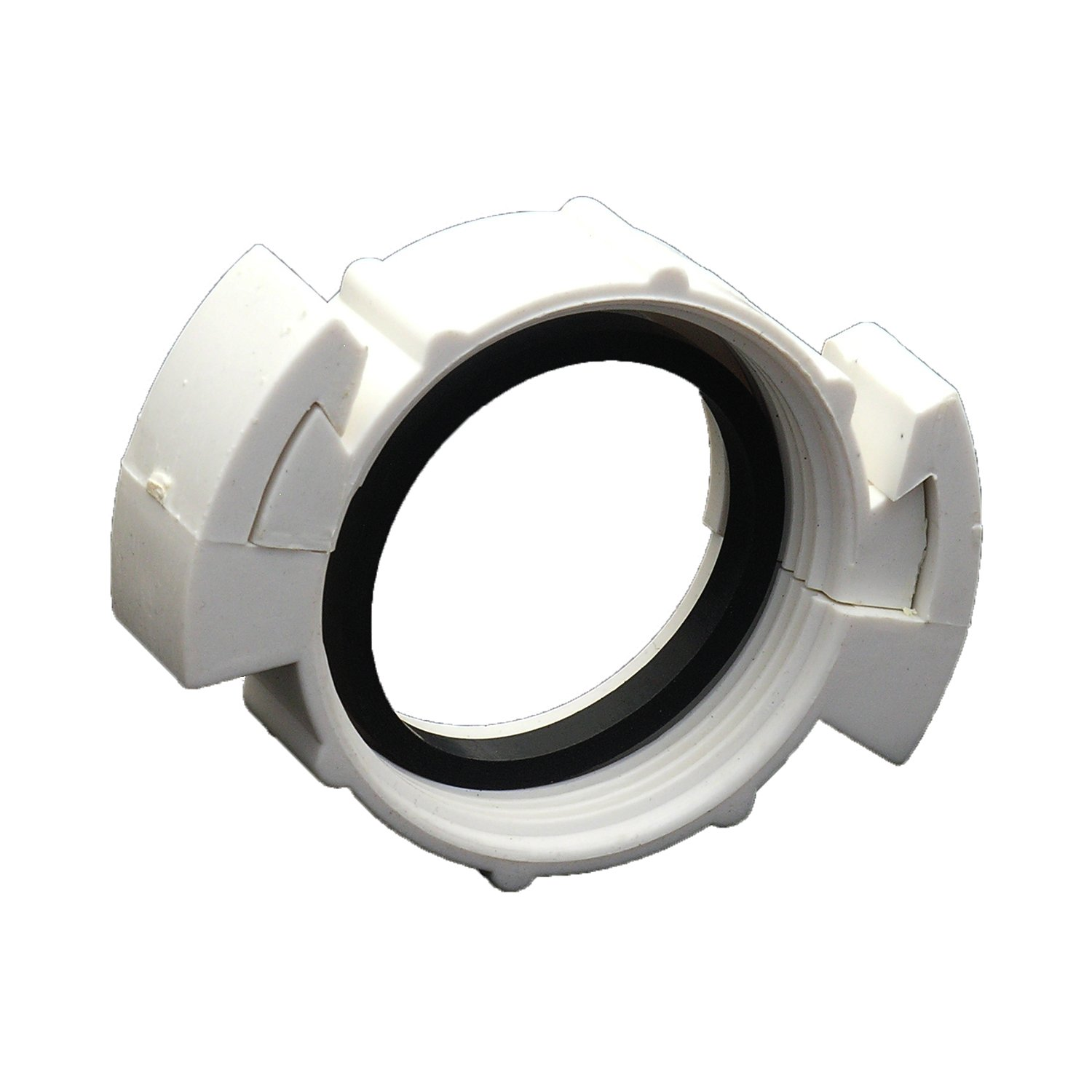 LASCO 03-1883 Two Piece Slip Joint Nut, 1-1/2'', White