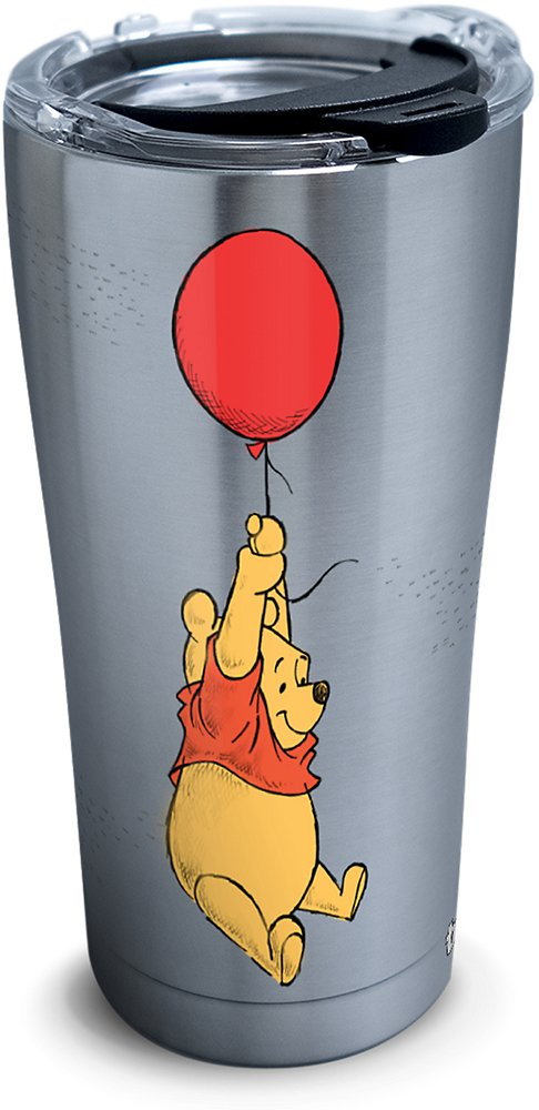 Tervis 1290652 Disney-Winnie the Pooh Balloons Tumbler with Clear and Black Hammer Lid, 20 oz Stainless Steel, Silver by Tervis