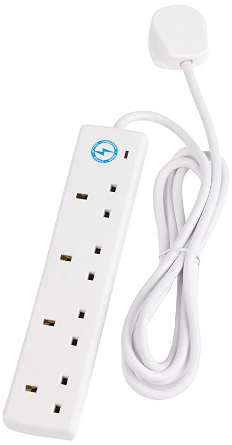 smj s4w2mp 4 socket 13a surge protected extension lead with 2m cable rh amazon co uk