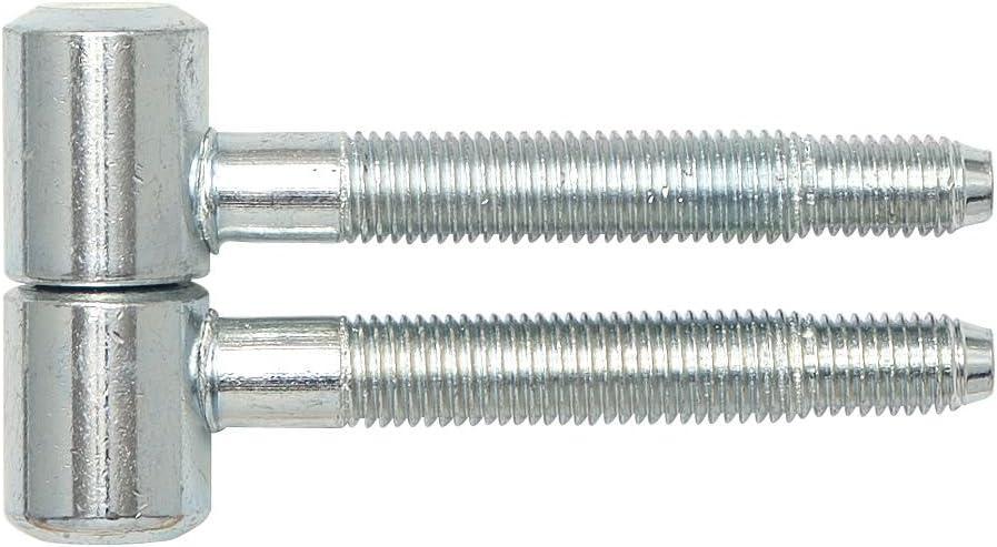 SECOTEC V105A020S202 Einbohrband zweiteilig Zylinderkopf Holz 16 mm verzinkt 2 St/ück